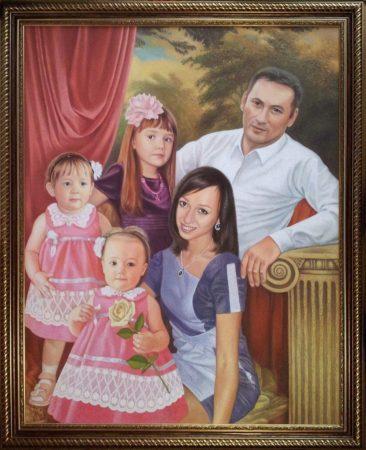 Семейный портрет маслом в Симферополе — правильная традиция…