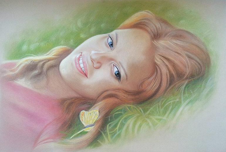 Настоящий портрет пастелью для любимой девушки в Симферополе, просто и со вкусом!