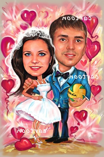 Свадебный шарж с оригинальным сюжетом в Симферополе!