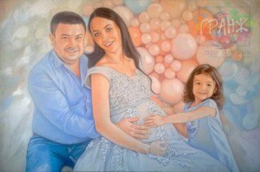 Заказать семейный портрет по фото маслом на холсте Симферополь