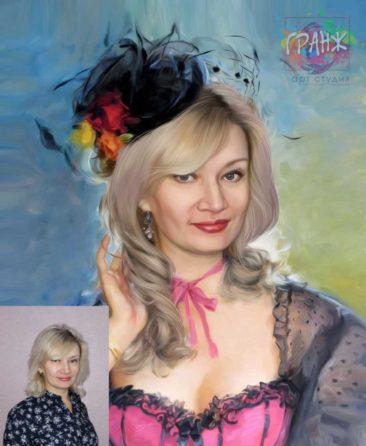 Заказать арт портрет по фото на холсте в Симферополь