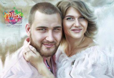 Где заказать портрет по фотографии на холсте в Симферополе?