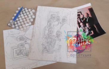 Картина по номерам по фото, портреты на холсте и дереве в Симферополе